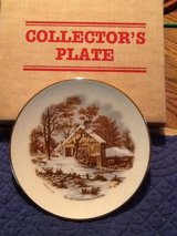 Collector's Plate-Currier & Ives in Byron, Georgia