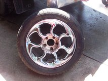 4 Chrome Mag Wheels and Tires in Fort Riley, Kansas