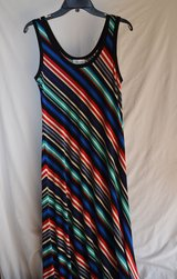 CALVIN KLEIN TANK STYLE Diogonal Stripe MAXI DRESS SIZE 8 - NWT in Chicago, Illinois