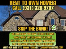 Bad Credit OK -- Rent to Own Homes in Fort Campbell, Kentucky