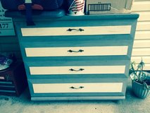 Gray/white painted dresser in Eglin AFB, Florida