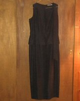 MARK SHALE * Womens sz 12 sexy dark gray full length formal party gown Dress in Schaumburg, Illinois