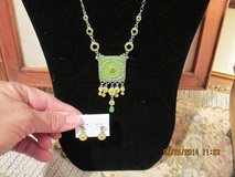 Sweet Pendant Necklace w/Gemstones & Matching Earrings - Gift-Boxed in Kingwood, Texas