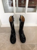 Girls Black Patent Leather Boots Size 3 in Bolingbrook, Illinois