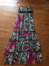 Women's Long Zebra and Floral Dress - sz M in Camp Lejeune, North Carolina