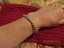 Very Vintage .925 Solid (Not Hollow) Sterling Silver Twisted Rope Cuff Bracelet in Kingwood, Texas
