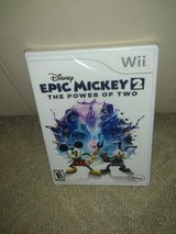Disney Epic Mickey 2 the power of two game for the wii in Lockport, Illinois