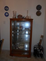 OAK CURIO/DISPLAY CABINET in Quantico, Virginia