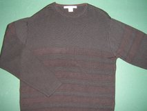 PERRY ELLIS * Mens sz LARGE casual Black SWEATER Shirt in Schaumburg, Illinois