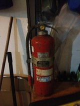 Old fire extinguisher 60's or 70's in DeKalb, Illinois