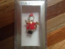 FireDepartment SIlver BEAR PIN Moveable Head, Arms & Legs by NAPIER Gift Boxed in Chicago, Illinois