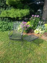 Patio Wrought Iron Chair and Table in Bartlett, Illinois