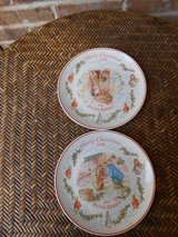 Pair Beatrix Potter Christmas Plates in Bartlett, Illinois