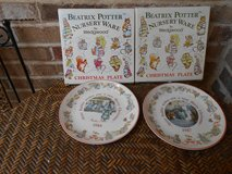 Pair Beatrix Potter Christmas Plates in Glendale Heights, Illinois