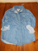 ***FOREVER 21 Ladies Denim Shirt W/Roll Up Sleeves***SZ M LOT 2 in The Woodlands, Texas