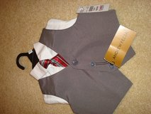 suit vest, tie & dress shirt Andrew Fezza 6/9mo ring bear in Lockport, Illinois