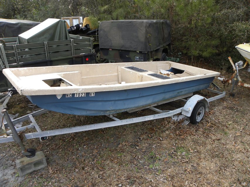 16 Foot WellBoat--With trailer | Boats & Watercraft for sale on Lejeune bookoo!